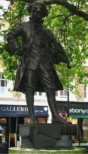 Photo of the Mozart statue near Pimlico