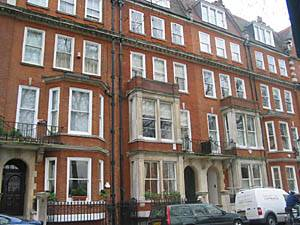 London row houses in Chelsea
