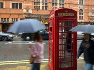 Photo of a rainy day in London Soho