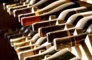 Photograph of wine rack