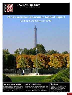 Paris Furnished Apartment Market Report 2008 full year