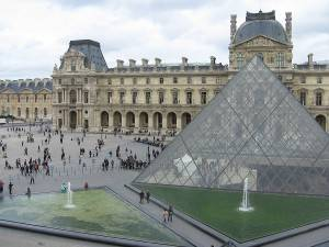 Photograph of the Louvre in Paris