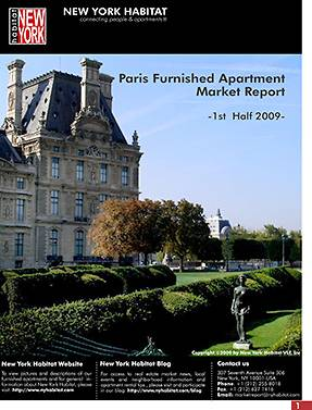 Paris furnished apartment market report 1st half 2009