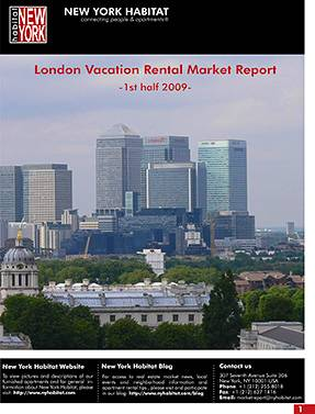 London Vacation Rental Report 1st half 2009