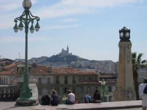 View of Marseille from the Train Station 