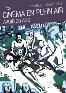 Official poster of ''Cinema plein air'' at la Villette