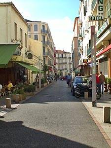 Photo of the streets of Cannes, South of France