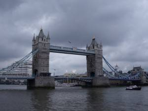 Photo of the Tower Bridge from a Thames River cruise