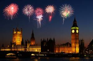 Fireworks in London on Guy Fawkes Day