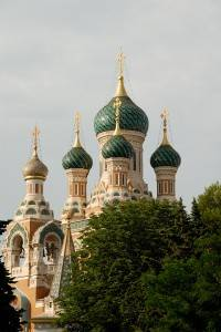 The Russian cathedral in Nice