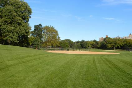 A baseball field in Central Park
