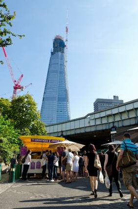 The Shard and the Southwark market