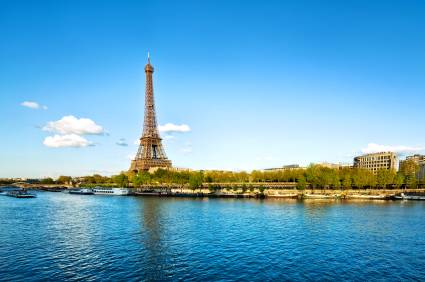 Paris' Eiffel Tower and the Seine River