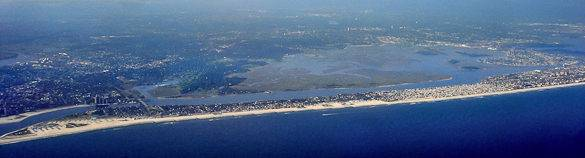 A panoramic view of Long Beach, Long Island, New York
