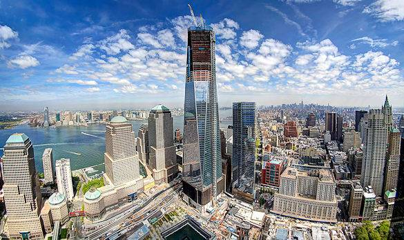 Construction of One World Trade Center and the 9/11 Memorial (photo courtesy of the Port Authority of New York and New Jersey)
