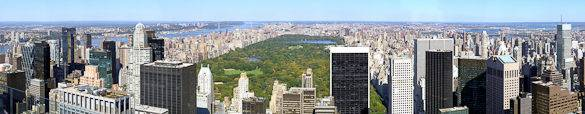 Photo of Central Park taken from atop Rockefeller Center in New York