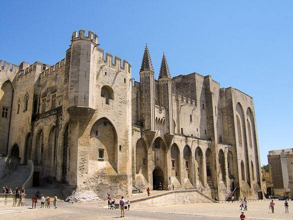 A picture of the Papal Palace in Avignon