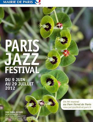 Photo of the official poster of the Paris Jazz Festival