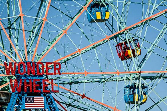 A view of the Wonder Wheel in Coney Island