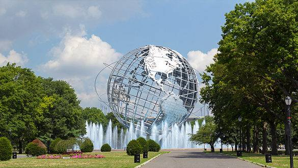 Picture of the Unisphere sculpture in Flushing Meadows-Corona Park
