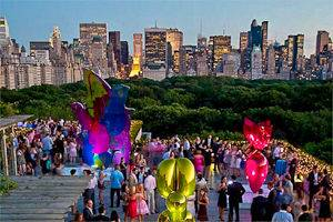 Image of the Metropolitan Museum of Art's Cantor Roof Garden in NYC