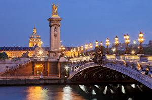 A view of the Seine River and the surrounding monuments from a boat cruise