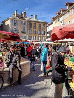 Picture of a market in Gap, the Southern French Alps