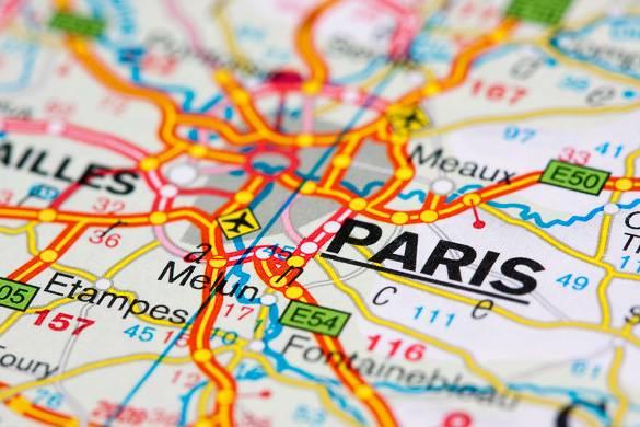 Road Map of Paris Region