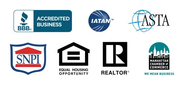 Logos of accreditation for real estate websites