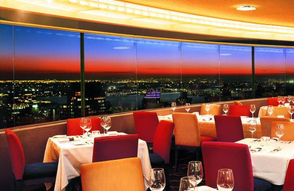 Picture of The View restaurant and its panoramic view of New York
