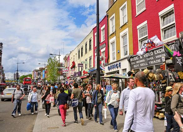Image of stores near London's Camden Market