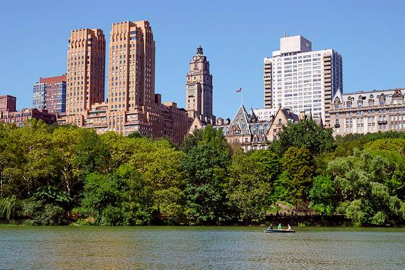 Image of Central Park's the Lake in New York City