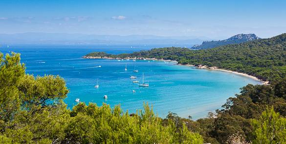 Image of the island Porquerolles in the French Riviera