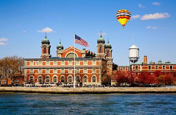 Image of the Ellis Island Immigration Museum in New York