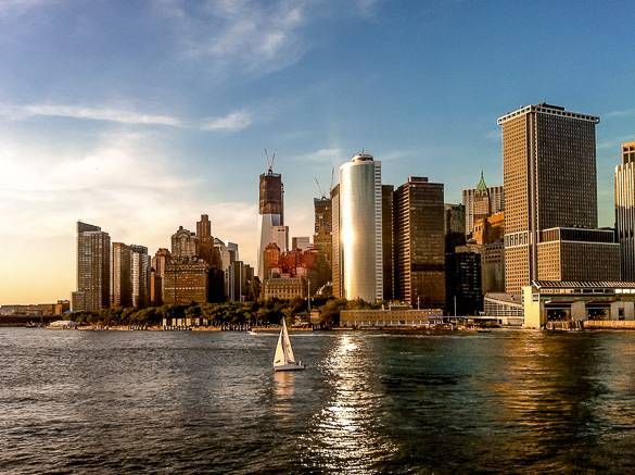 A view of Lower Manhattan in summer