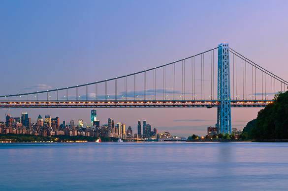 Image of the George Washington Bridge in Upper Manhattan