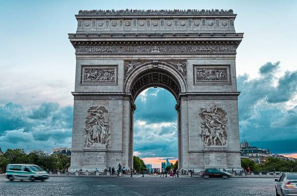 Image of the Arc de Triomphe in Paris