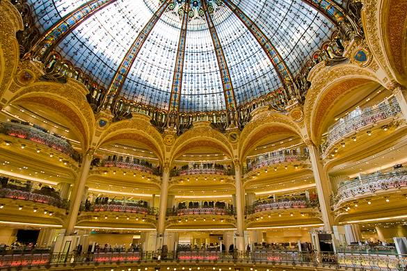 Image of the Galeries Lafayette in Paris