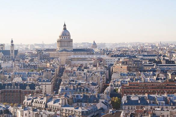 Panorama of the 6th Arrondissement in Paris