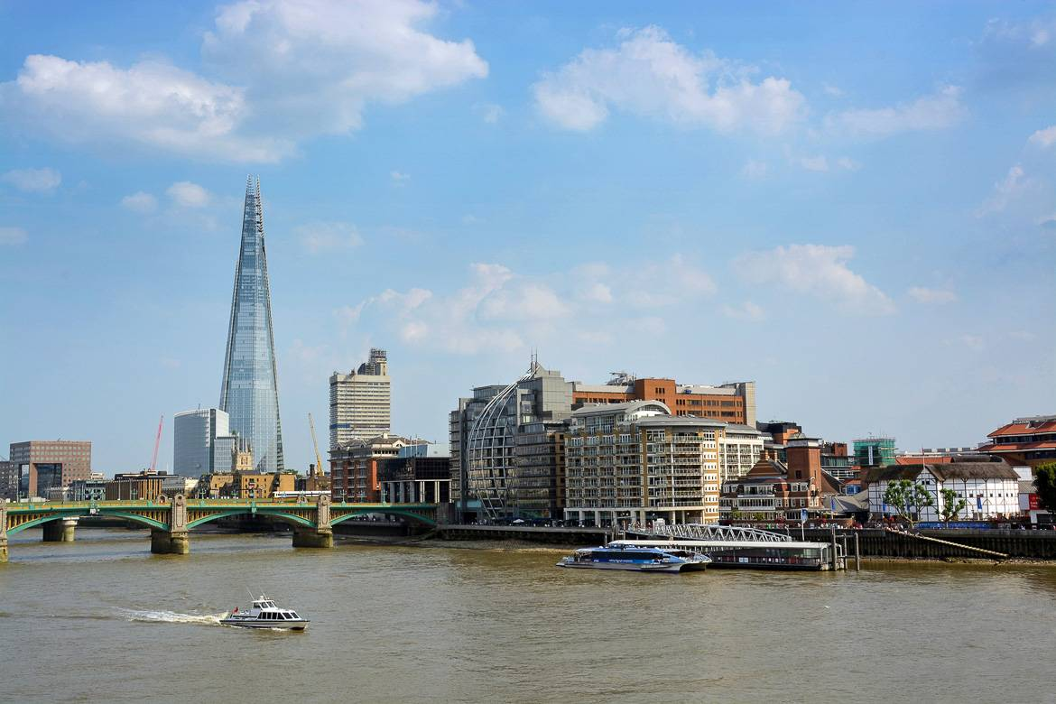 View of the London area of Southwark and The Shard