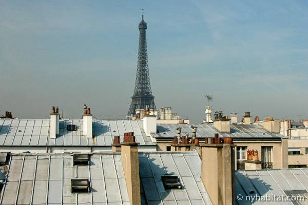 Picture Of The Eiffel Tower And Paris Rooftops Taken From An Invalides  Studio Apartment