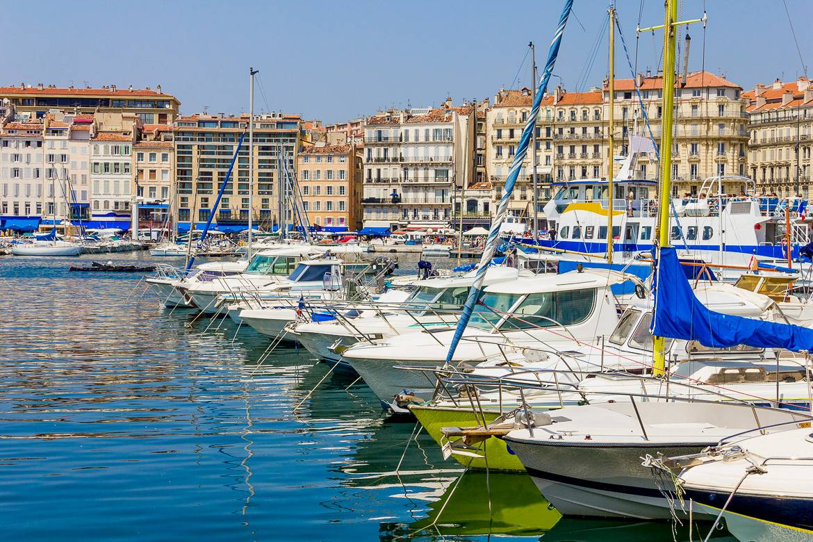 Picture of Marseille's Vieux-Port in Southern France