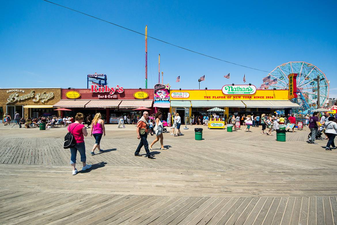 Image of Coney Island boardwalk