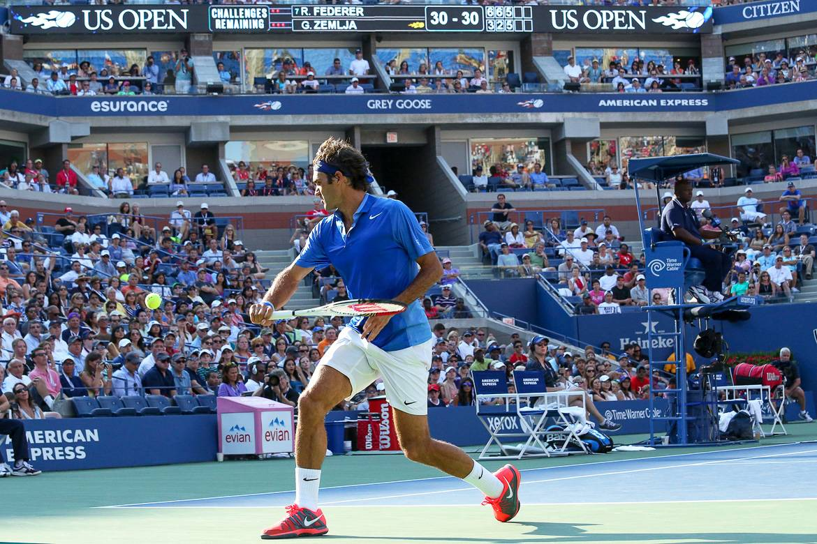 Image of Roger Federer at the U.S. Open