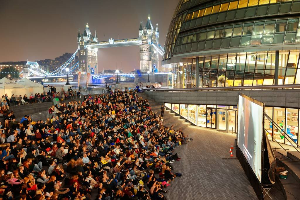 Image of movie screening at South Bank