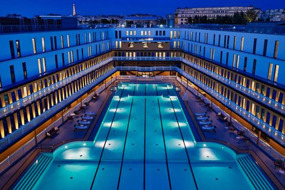 Best places to swim in paris new york habitat blog for Molitor swimming pool paris