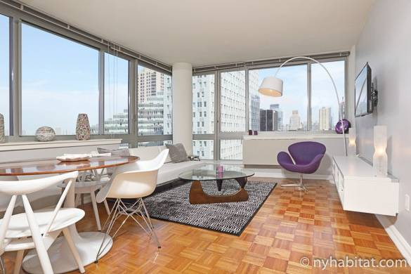 Image of fully furnished one bedroom apartment rental NY-16788