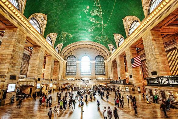 Image of the main concourse of Grand Central Terminal train station in NYC