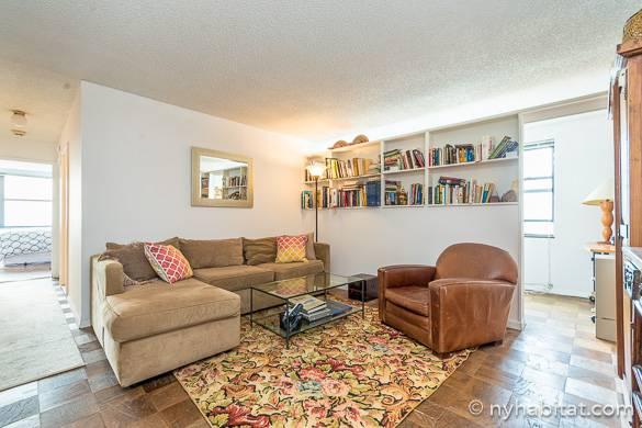 Image of living room of NY-16858 in Tribeca with Hudson River views