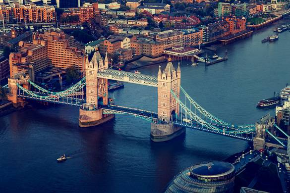 Image of Tower Bridge over the River Thames in London